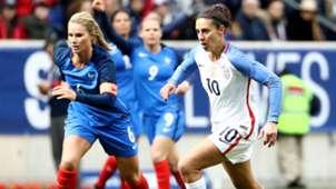 Carli Lloyd Amandine Henry USWNT USA France women