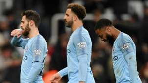Bernardo Silva, Kyle Walker, Raheem Sterling, Man City