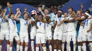 England U20 Championship celebration