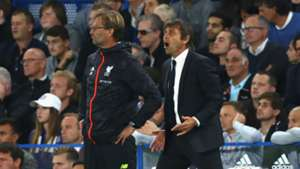 Jurgen Klopp Antonio Conte Liverpool Chelsea