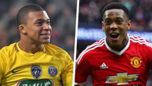 Kylian Mbappe Anthony Martial Split