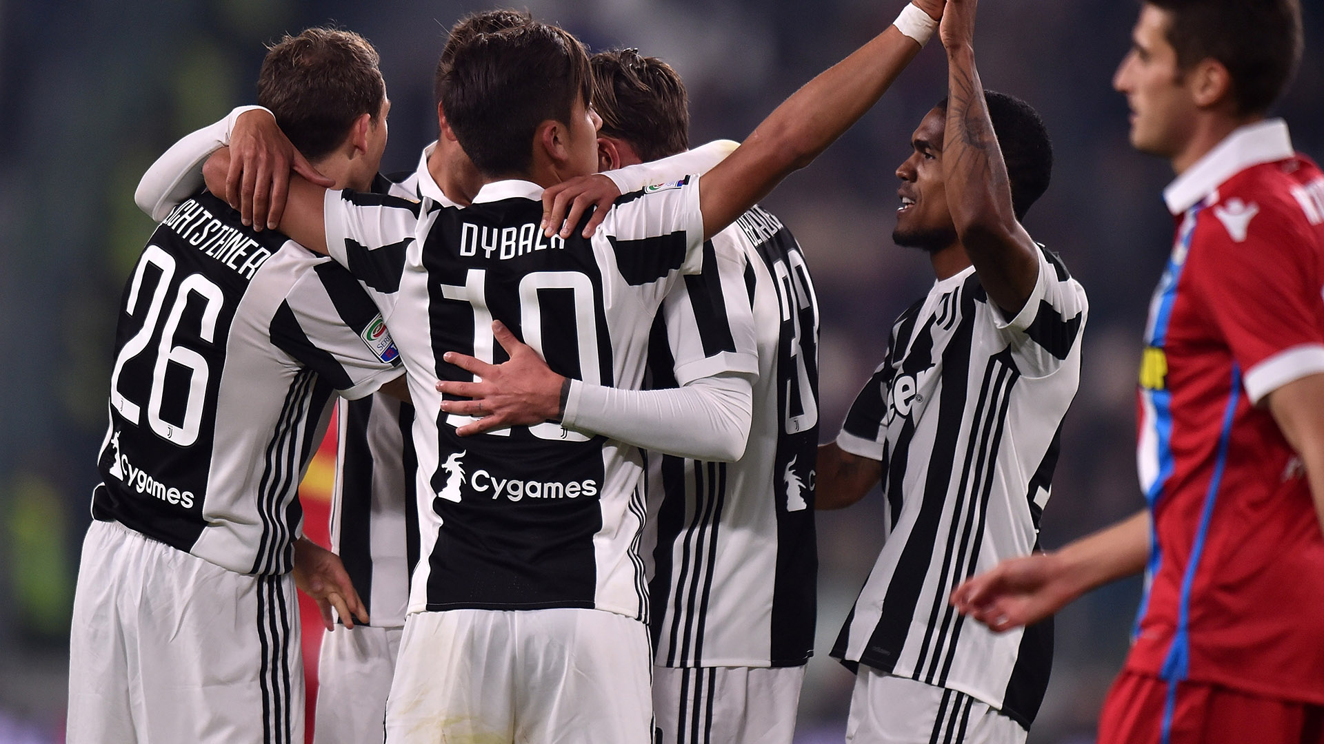 Juventus celebrating vs Spal Serie A