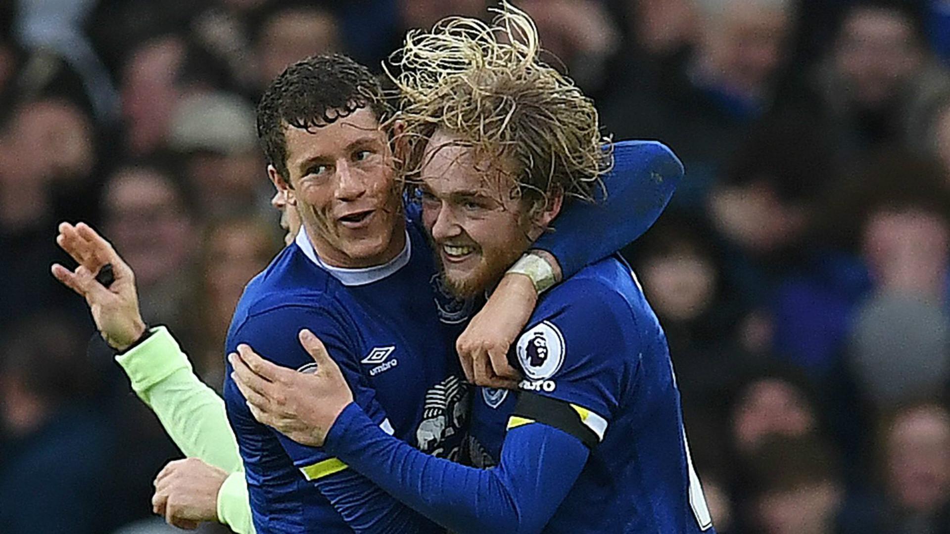 Ross Barkley Tom Davies Everton