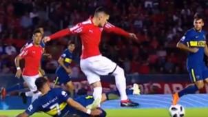Video Lesion Bustos Independiente Boca Superliga