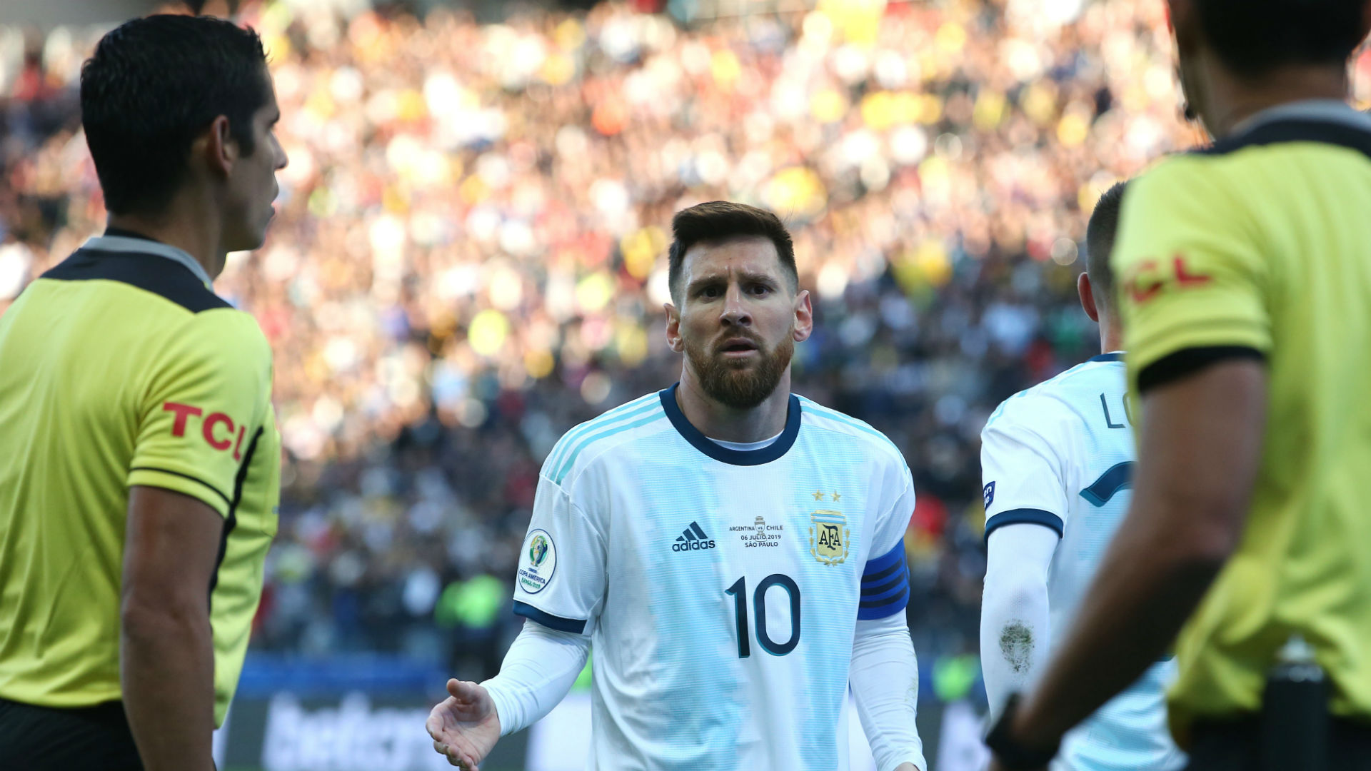 'I don't understand what Messi did to get red' - Scaloni backs captain and slams VAR use at Copa
