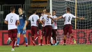 Cittadella celebrating Coppa Italia 08122018