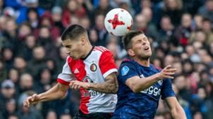 Kevin Diks - Klaas Jan Huntelaar, Feyenoord - Ajax, Eredivisie 10222017