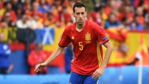 Sergio Busquets Spain Czech Republic Euro 2016