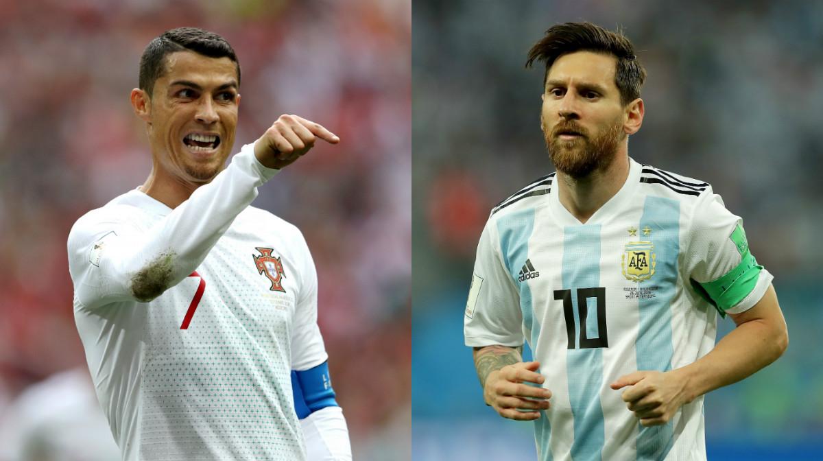 collage Messi Ronaldo