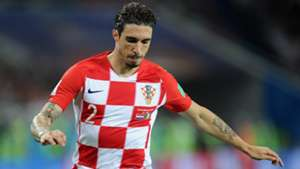 Sime Vrsaljko of Croatia during the 2018 FIFA World Cup Russia group D match between Croatia and Nigeria at Kaliningrad Stadium on June 16, 2018 in Kaliningrad, Russia