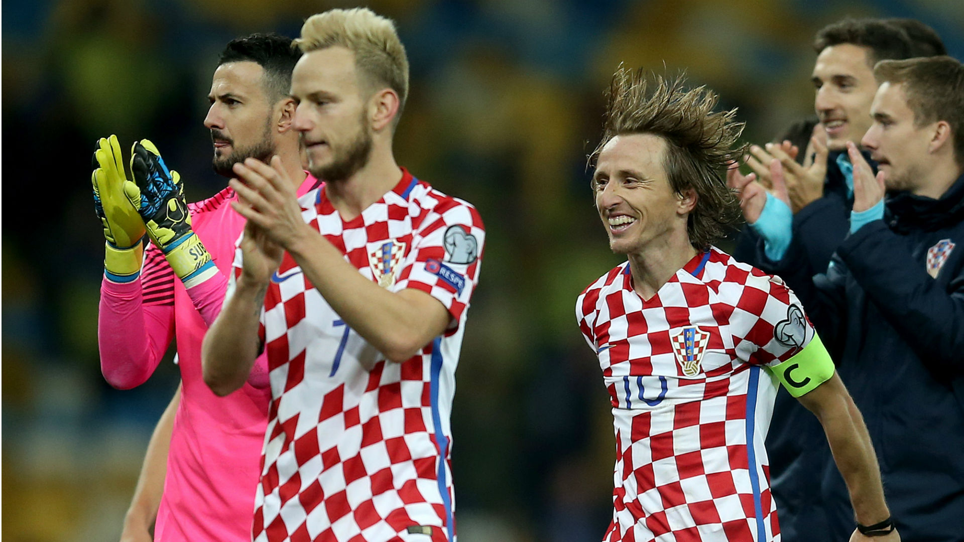 Subasic Rakitic Modric Croatia Ukraine 09102017