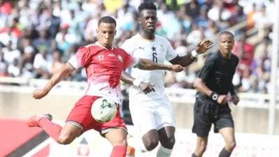 Ismael Gonzalez of Kenya v Ghana.