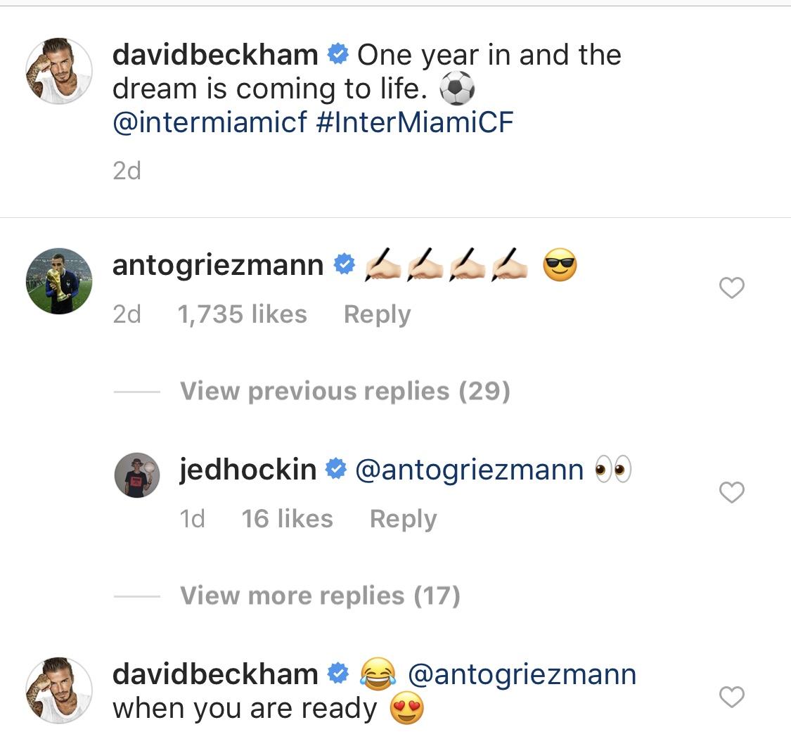 David Beckham Griezmann IG