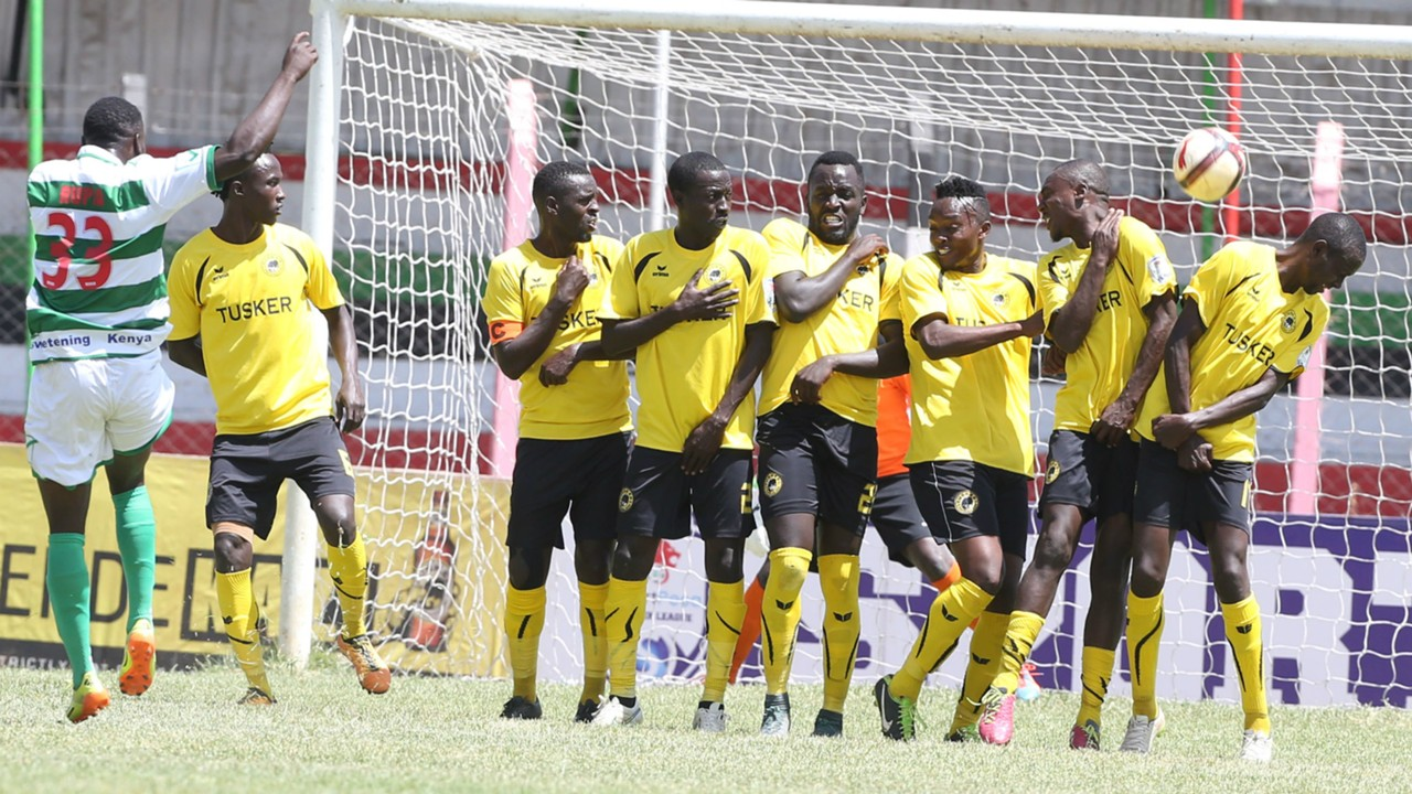 Nzoia Sugar score past Tusker.