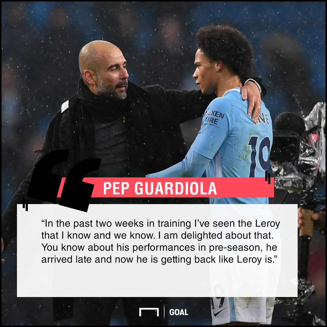 Guardiola Sane quote