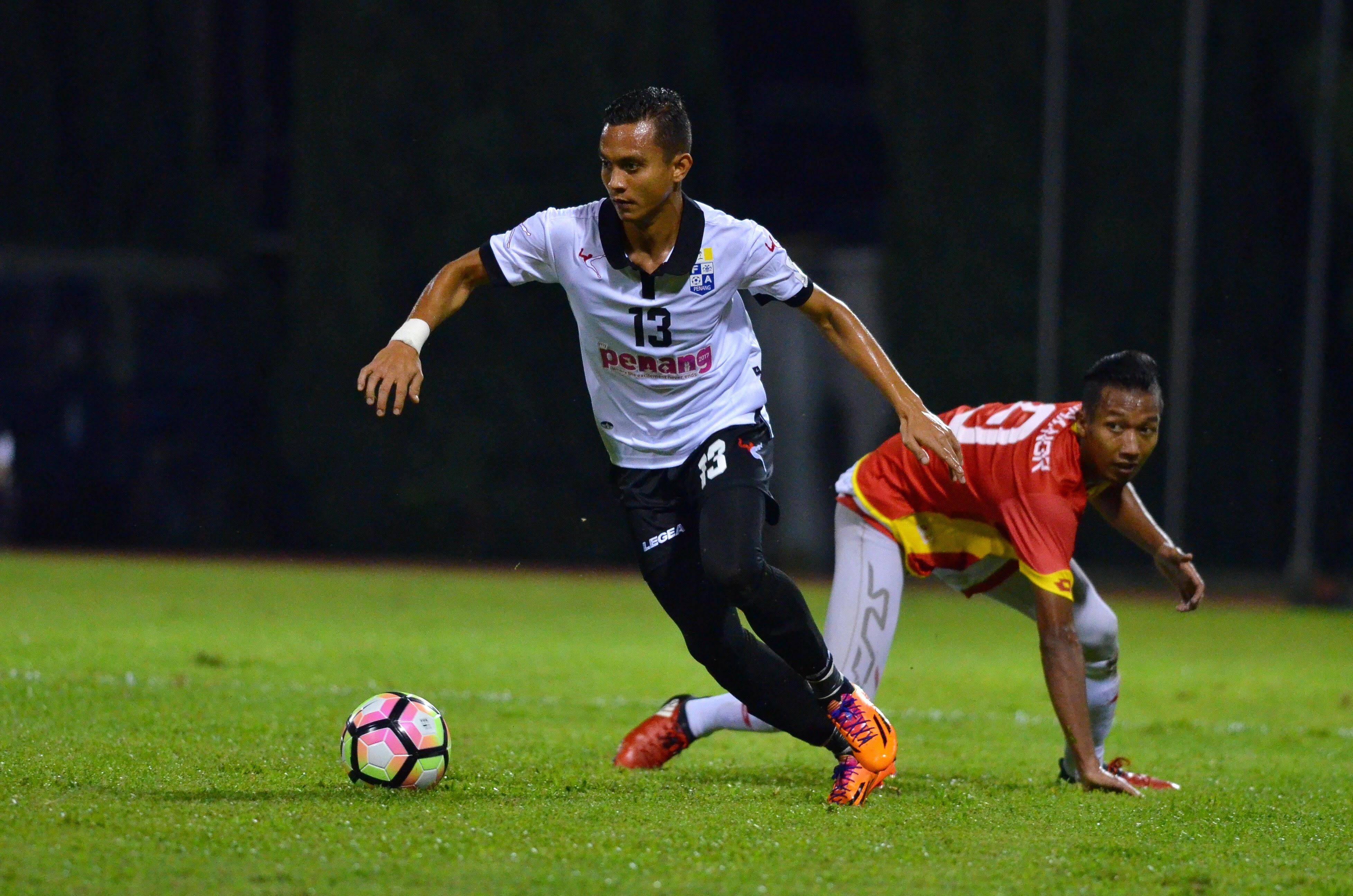 Pulau Pinang's Faiz Subri playing against Selangor 21/1/2017