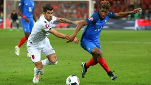 Elseid Hysaj Kingsley Coman France Albania UEFA Euro 2016 15062016