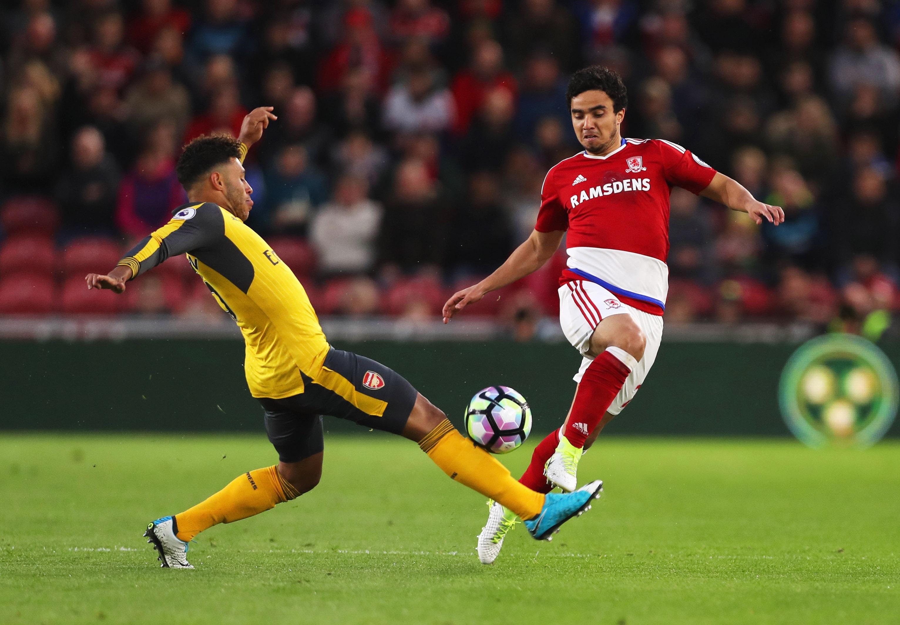 Fabio, Alex Oxlade-Chamberlain, Arsenal, Middlesbrough, 041717
