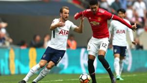 Chris Smalling Harry Kane Manchester United Tottenham Hotspur
