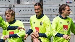 Emil Forsberg Zlatan Ibrahimoic Albin Ekdal Schweden Sweden 05282016