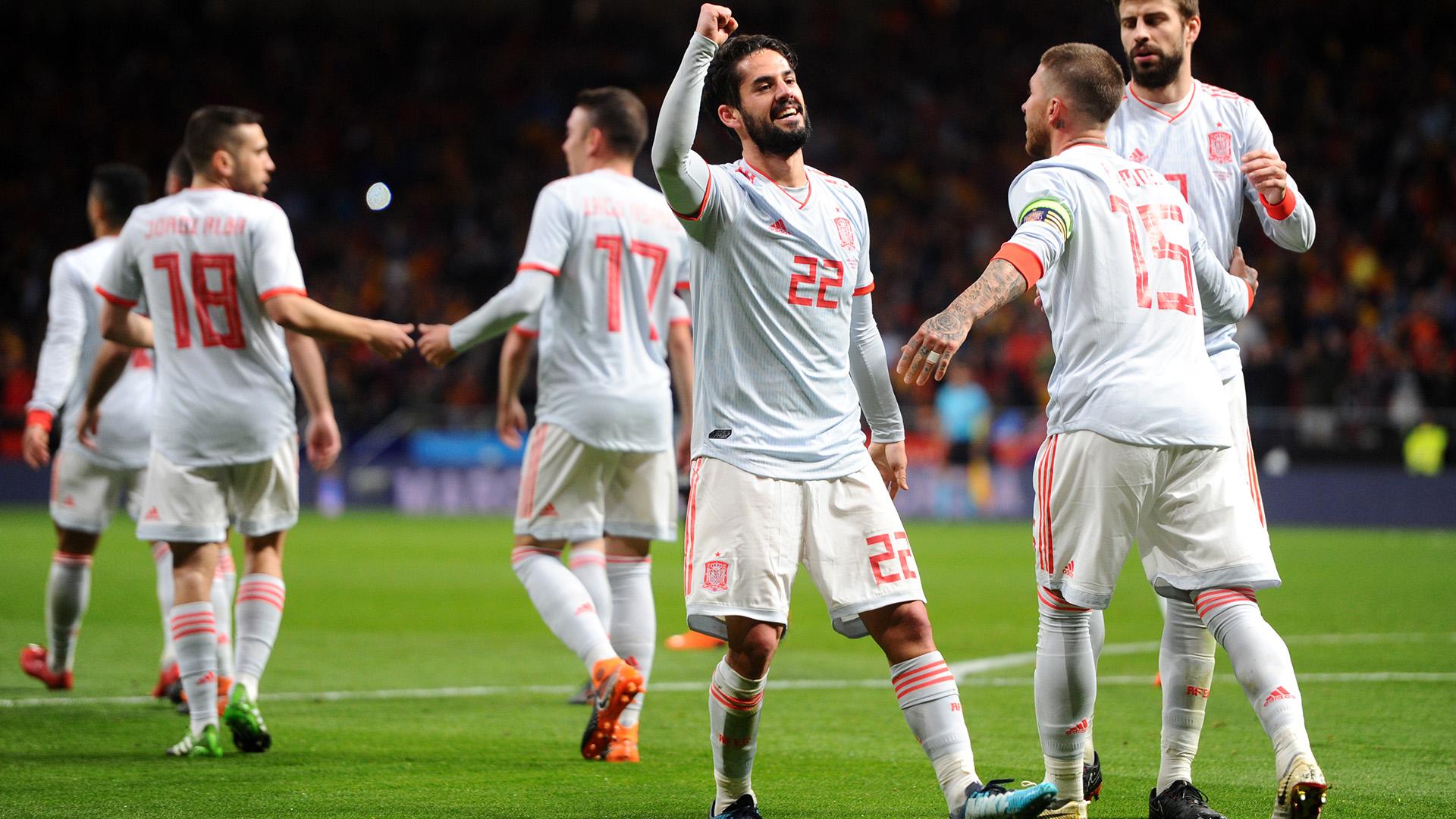 Spain Argentina friendly 2018