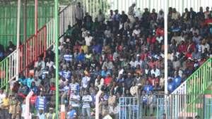 AFC Leopards fans against Singida United.