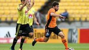 Tommy Oar Wellington Phoenix v Brisbane Roar A-League 21012017