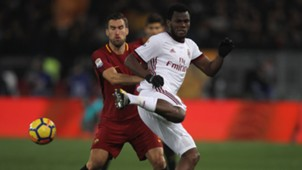 AS Rom AC Mailand Kevin Strootman Franck Kessie 25022018