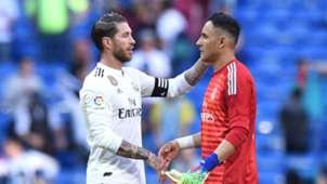 Sergio Ramos Keylor Navas Real Madrid 0319
