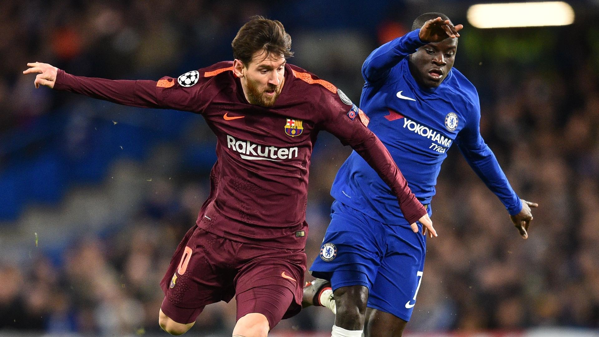 Lionel Messi, N'Golo Kante, Chelsea vs Barcelona