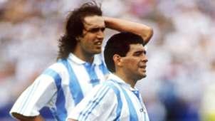 Diego Maradona Gabriel Batistuta World Cup 1994