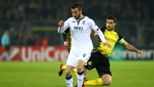 Bryan Cristante Sokratis Papastathopoulos Borussia Dortmund Atalanta UEFA Europa League 02152018