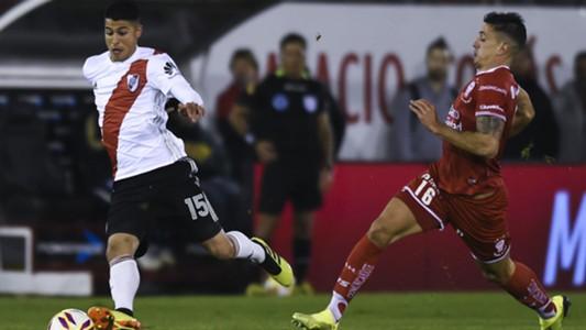 Exequiel Palacios Diego Mendoza Huracan River Superliga Argentina 12082018