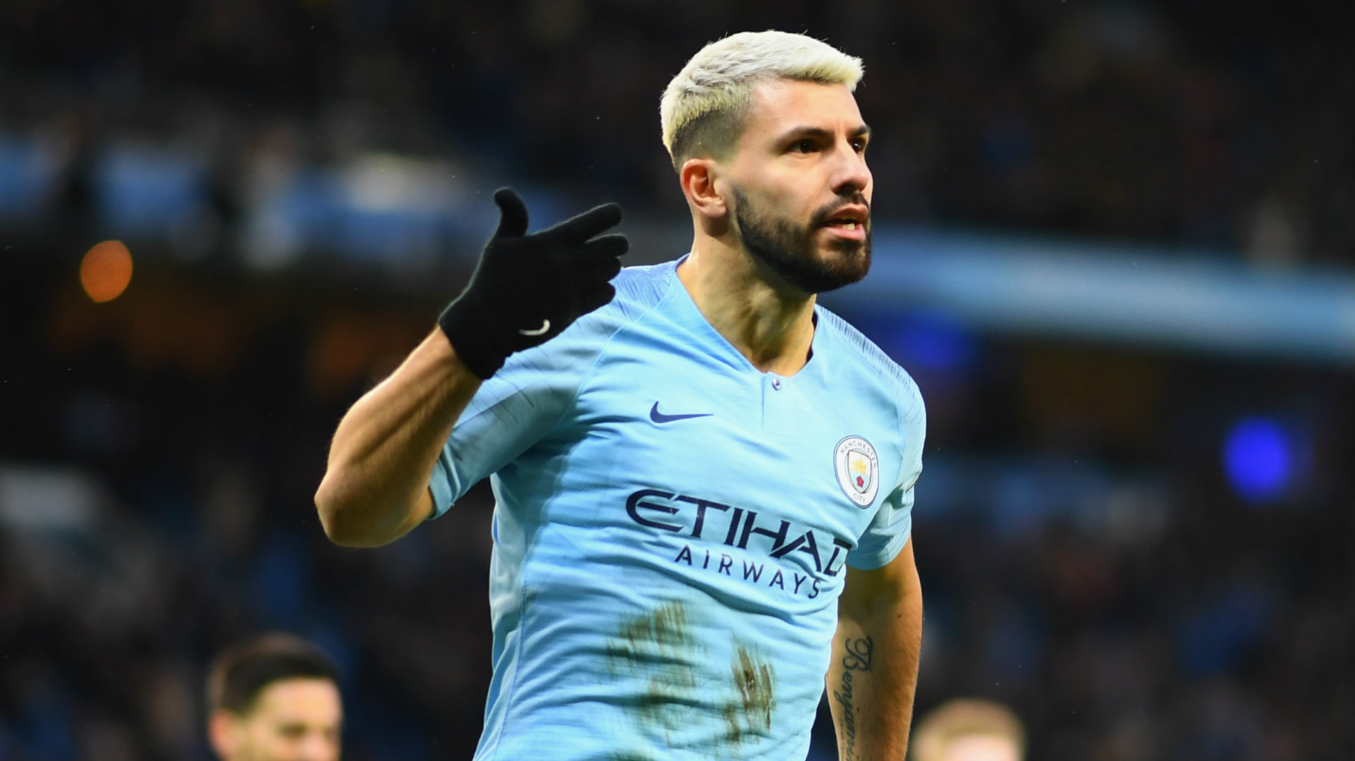 Sergio Aguero Manchester City vs Arsenal Premier League 2018-19