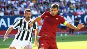 Edin Dzeko Andrea Barzagli Juventus Roma