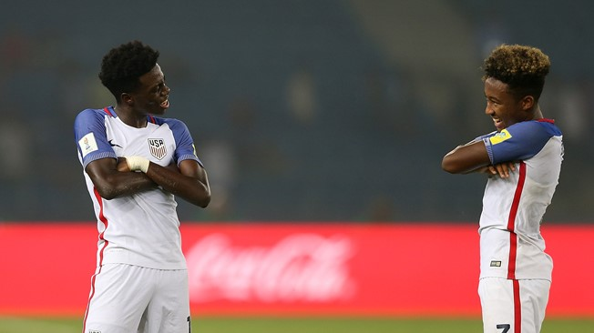 Brewster hat-trick helps England cruise past US
