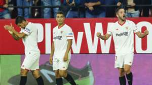 Sevilla celebrate against Leganes