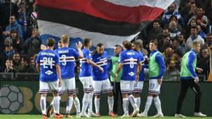 Sampdoria celebrating Sampdoria SPAL Serie A