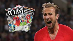 Harry Kane England 2018 World Cup Newspapers