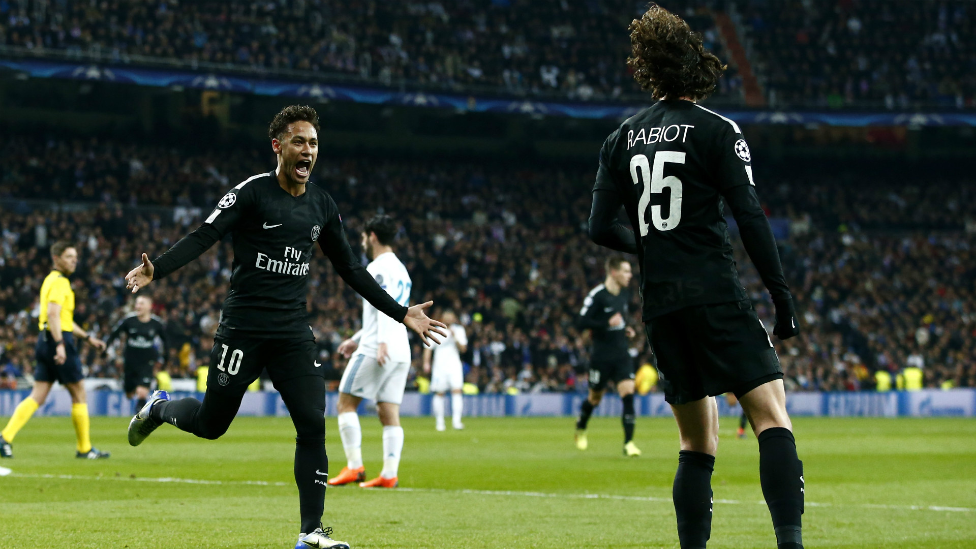 Neymar Rabiot Real Madrid PSG Champions League