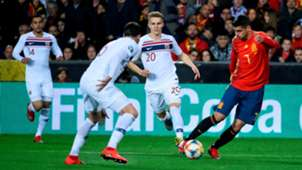 Alvaro Morata Martin Odegaard España Noruega Spain Norway EURO 23032019