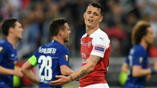 Granit Xhaka Chelsea vs Arsenal Europa League final 2018-19