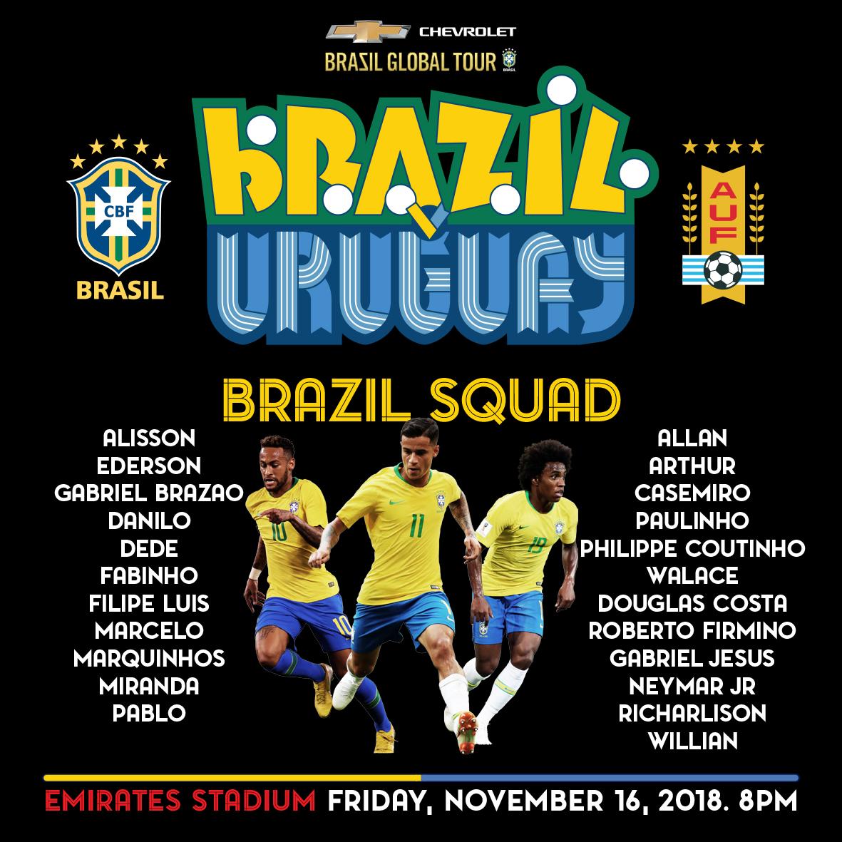 Brazil squad 29102018