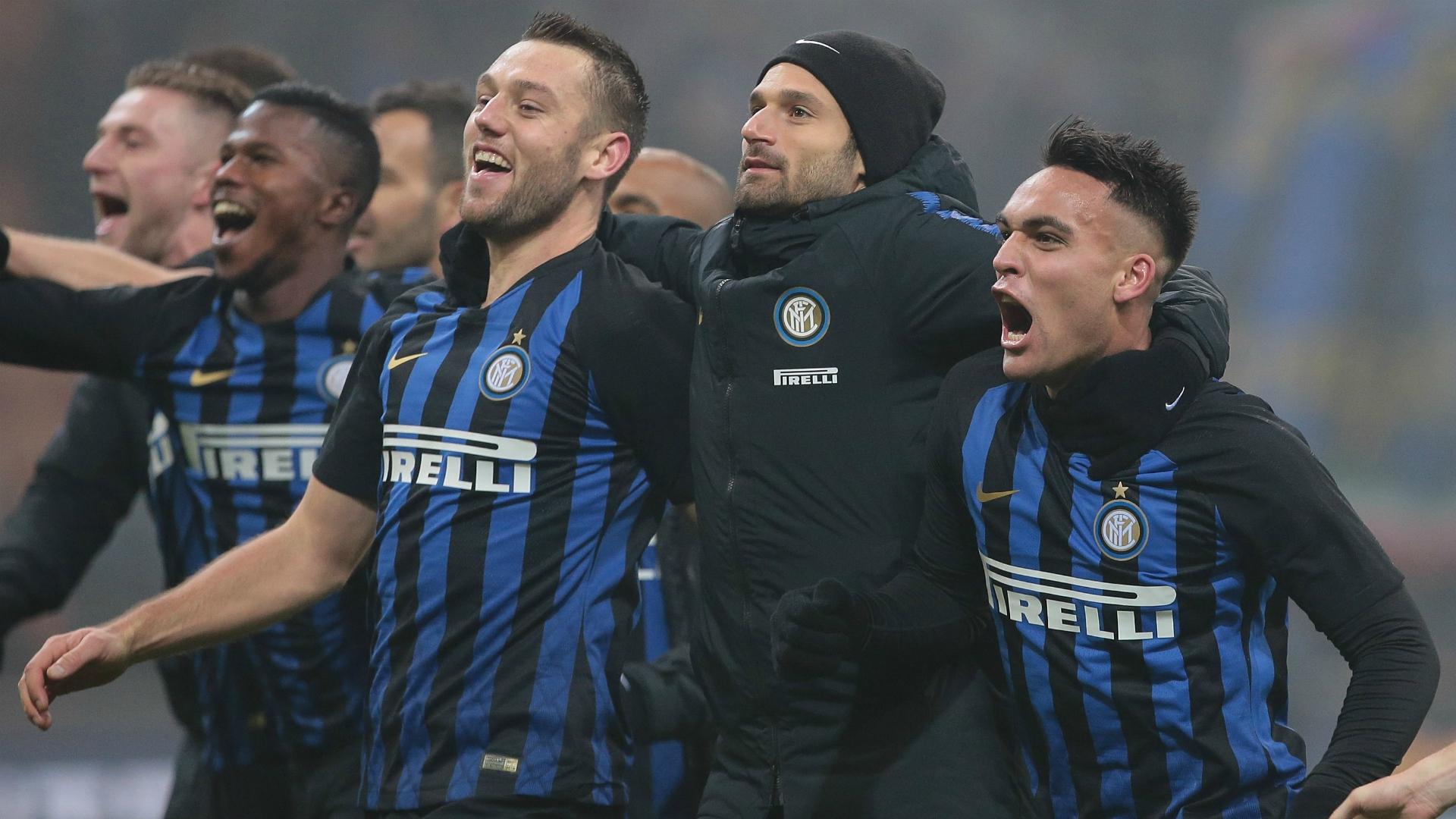 Inter celebrating Serie A 12262018