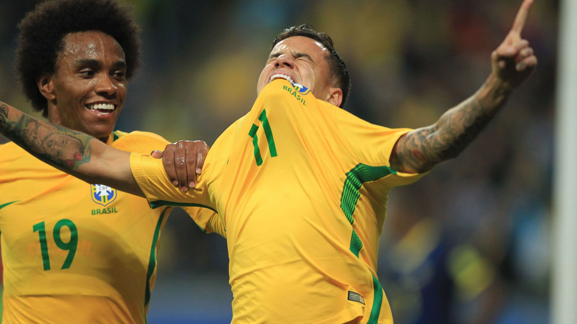 Willian Coutinho Brazil Ecuador Eliminatorias 2018 31082017