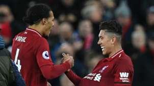 Virgil van Dijk Roberto Firmino Liverpool 2018-19