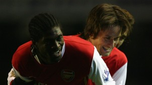 Emmanuel Adebayor Tomas Rosicky Arsenal