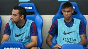 Xavi Hernandez Neymar Barcelona