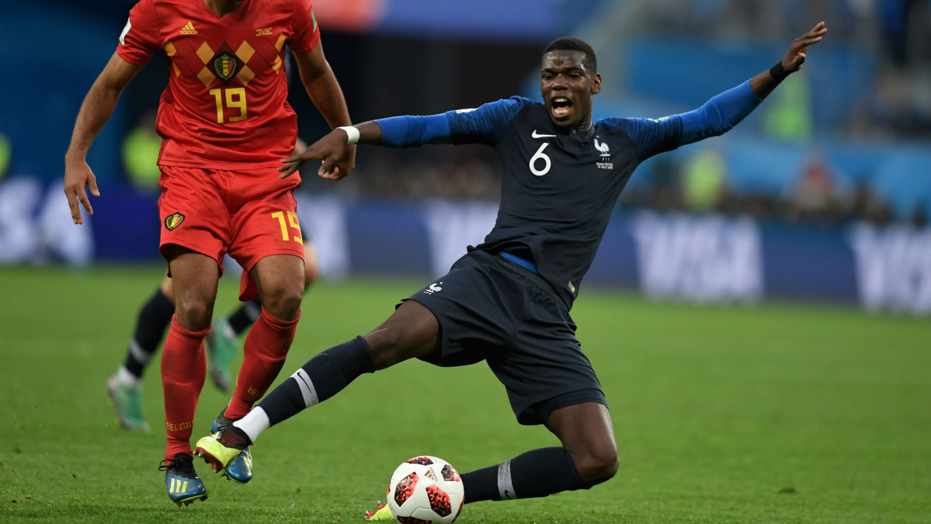 Paul Pogba France Belgium