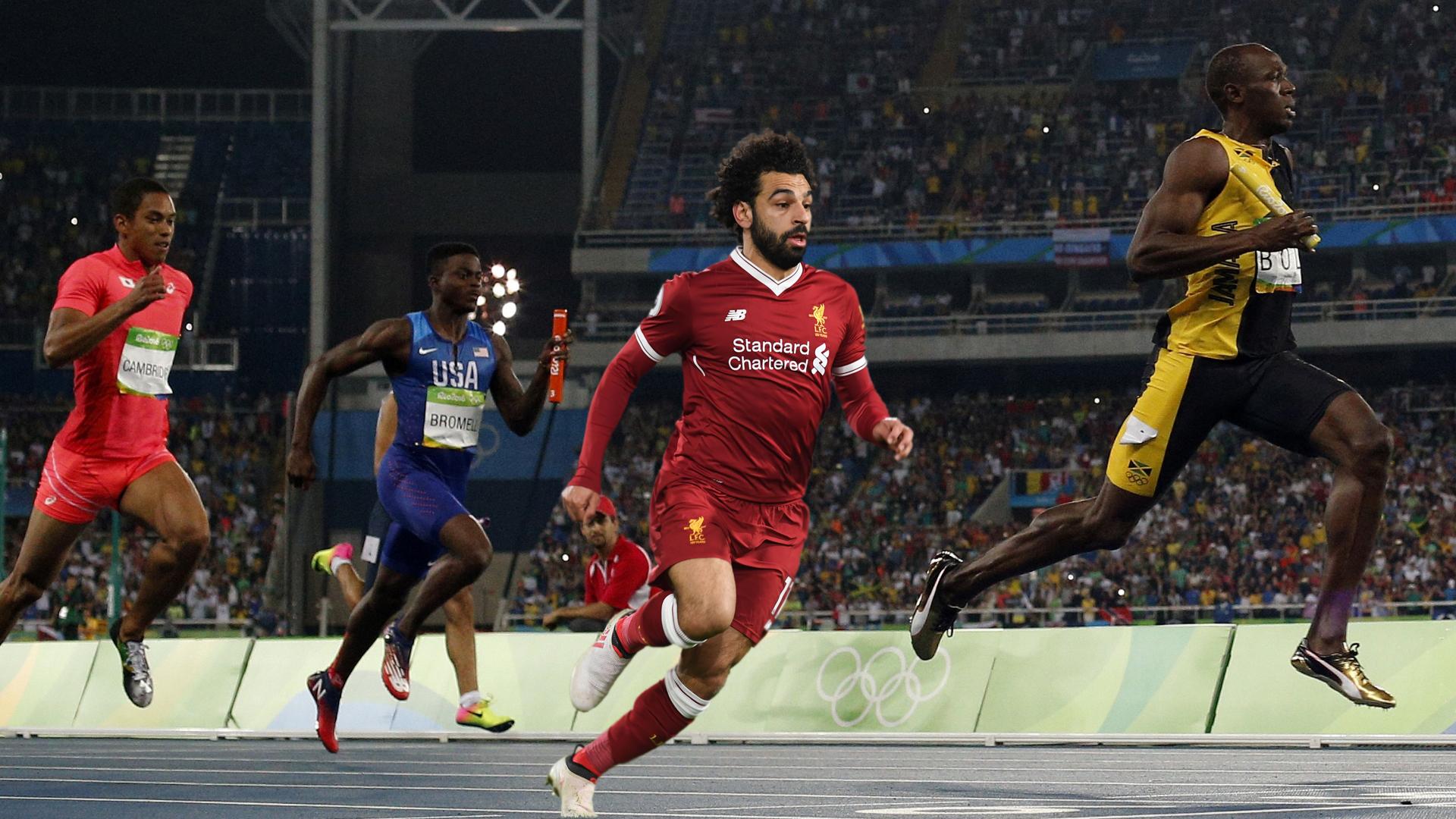 Mohamed Salah, Usain Bolt, Olympic Games
